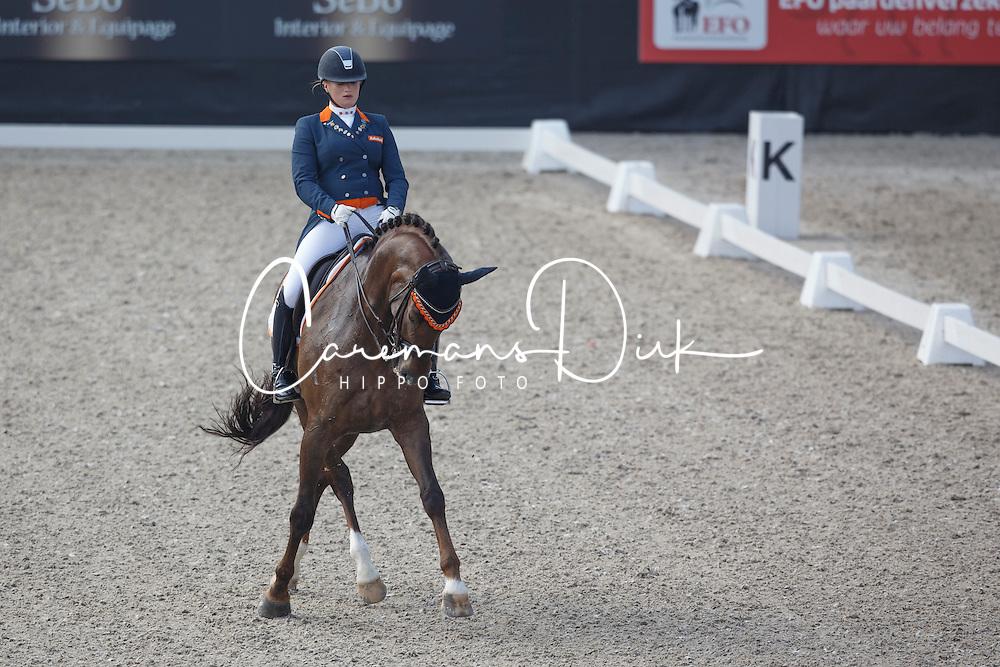 Zoutendijk Lisanne, (NED), Kostendrukkers Watteau<br /> Roelofsen Horse Trucks Prijs - Juniors Team Test<br /> Dutch Championship Dressage - Ermelo 2015<br /> &copy; Hippo Foto - Dirk Caremans<br /> 17/07/15