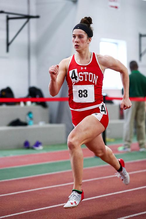 womens 400 meters, BU, Liguori, Greer<br /> Boston University Scarlet and White<br /> Indoor Track & Field, Bruce LeHane