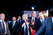 28 January 2016, Milan, Italy - Marine Le Pen and Matteo Salvini arrive at the MiCo palace in MIlan, for the opening of the first Europe of Nations and Freedom (ENF) congress.