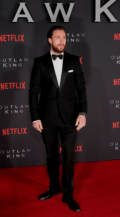 Outlaw King Premiere, Edinburgh, Friday 19th October 2018<br /> <br /> Outlaw King is a Netflix film and follows 14th century Scottish king Robert the Bruce prior to his coronation and through to his rebellion against the English, who at the time were occupying Scotland.<br /> <br /> Stars, crew and guests appear on the red carpet for the Scottish premiere.<br /> <br /> Pictured: Aaron Taylor-Johnson<br /> <br /> Alex Todd | Edinburgh Elite media