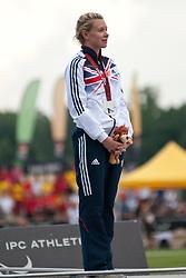 WOODWARD Bethany, GBR, 200m, T37, Podium, 2013 IPC Athletics World Championships, Lyon, France