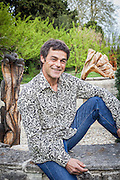 Marc Nucera - French tree scultor in his garden of Noves - Bouches -du-Rhône - France - 2012/04/03 - © Denis Dalmasso
