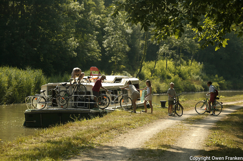 families on barges in Burgundy, France... .photo by Owen Franken