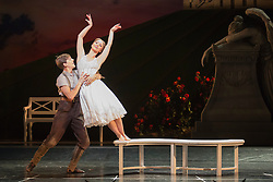 "© Licensed to London News Pictures. 04/12/2015. London, UK. Ashley Shaw as Aurora and Dominic North as Leo. Matthew Bourne's ""Sleeping Beauty"", a Gothic Romance, is performed at Sadler's Wells from 1 Dec 2015 - 24 Jan 2016. Photo credit: Bettina Strenske/LNP"