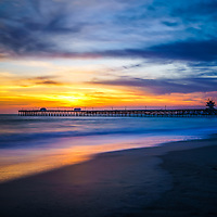 San Clemente pier at sunset in Orange County Southern California. San Clemente is a popular beach city in the Western United States of America. Copyright ⓒ 2017 Paul Velgos with all rights reserved.