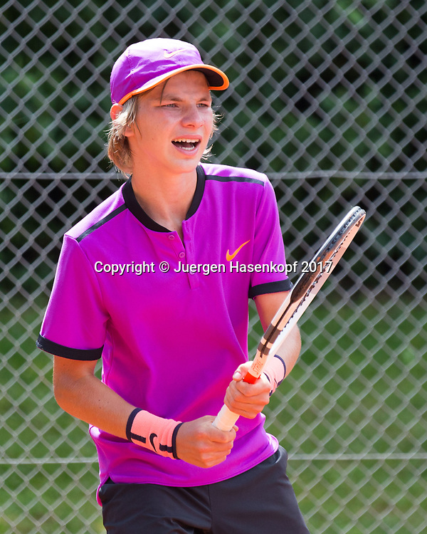 MATVEI ALEKSANDROV (RUS), Bavarian Junior Open 2017, Tennis Europe Junior Tour, BS 16<br /> <br /> Tennis - Bavarian Junior Open 2017 - Tennis Europe Junior Tour -  SC Eching - Eching - Bayern - Germany  - 8 August 2017. <br /> &copy; Juergen Hasenkopf