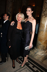 Left to right, BETTY JACKSON and ERIN O'CONNOR at the British Fashion Awards 2006 sponsored by Swarovski held at the V&A Museum, Cromwell Road, London SW7 on 2nd November 2006.<br />