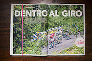 The break on the last kms of the Giau pass climb during the 14th stage (Alpago - Corvara, 210km) of the 99th Giro D'Italia