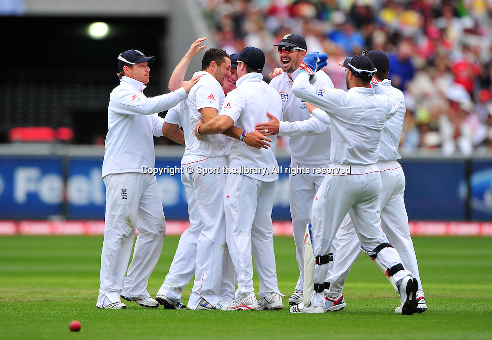 England celebrate the wicket of <br /> Brad Haddin (AUS)<br /> Australia vs England<br /> Cricket - Ashes Test 3 / Melbourne<br /> Melbourne Cricket Ground / MCG<br /> Sunday 26 December 2010<br /> &copy; Sport the library/Jeff Crow