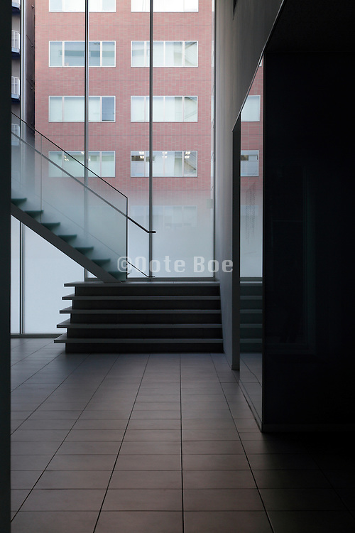 classic modern interior and outside facade of an other red brick building