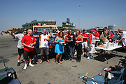 ANAHEIM, CA - MAY 14:  Fans tailgate at the Los Angeles Angels of Anaheim game against the Boston Red Sox at Angel Stadium in Anaheim, California on Thursday, May 14, 2009.  The Angels defeated the Red Sox 5-4 in 12 innings.  (Photo by Paul Spinelli/MLB Photos)