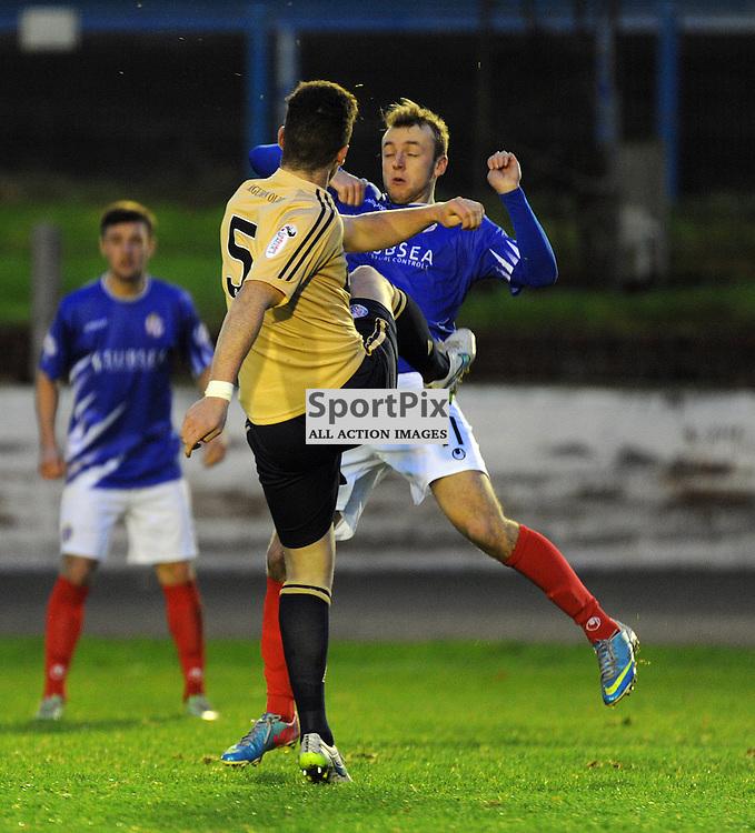 Cowdenbeath v Brechin Ladbrokes League 1 Central Park 14 November 2015<br /> <br /> Greig Spence and Ross Perry<br /> <br /> (c) David Wardle | StockPix.eu