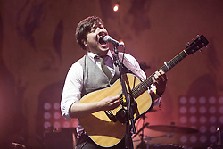 Marcus Mumford of Mumford & Sons headline the main stage on Friday night..Rockness 2012..©Michael Schofield..