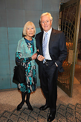 MICHAEL & IRENE ASPEL at a tribute lunch in honour of Michael Aspel hosted by The Lady Taverners at The Dorchester, Park Lane, London on 14th November 2008.