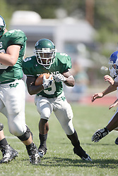 15 September 2007:  Marcus Dunlop sneaks through the line. The Titans stood toe to toe with the 25th ranked Lions through the first half but ended the game on the losing end of a 25-15 score at Wilder Field on the campus of Illinois Wesleyan University in Bloomington Illinois.