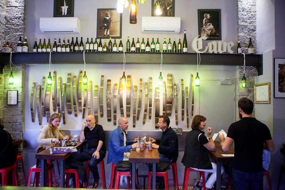 Les Contrebandiers tapas bar in Biarritz, France.
