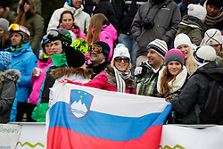 Fans during Final Run of Men's Parallel Giant Slalom at FIS Snowboard World Cup Rogla 2016, on January 23, 2016 in Course Jasa, Rogla, Slovenia. Photo by Ziga Zupan / Sportida