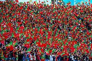 Portugal fans wave flags ahead of the start of the match during the UEFA Nations League match between Portugal and Netherlands at Estadio do Dragao, Porto, Portugal on 9 June 2019.