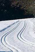 Langlauf Loipe, verschneiter Winterwald, Schnee, Winter, Harz, Niedersachsen, Deutschland | cross country ski track, forest,  snow, winter, Harz, Lower Saxony, Germany