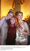 Jodie Kidd, Lainey Keogh and Honor Fraser after Lainey Keogh's fashion show. Theatre Royal Drury Lane. London.23 February 1998. Film 9854f18<br />