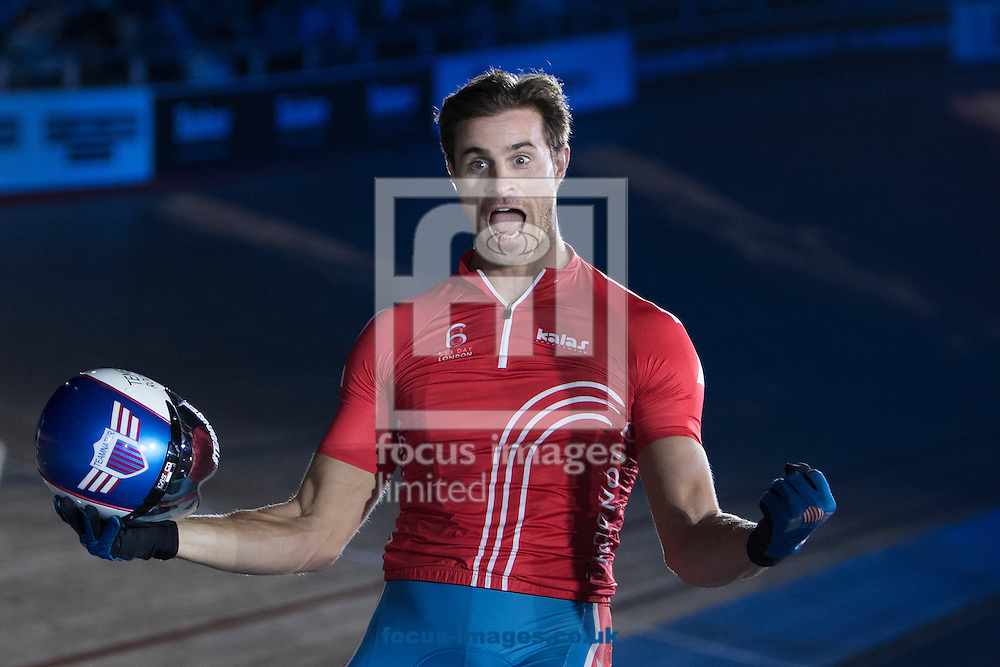 Nate Koch on day six of the Six Day cycling series at Lee Valley VeloPark, London, UK<br /> Picture by Ryan Dinham/Focus Images Ltd +44 7900 436859<br /> 30/10/2016