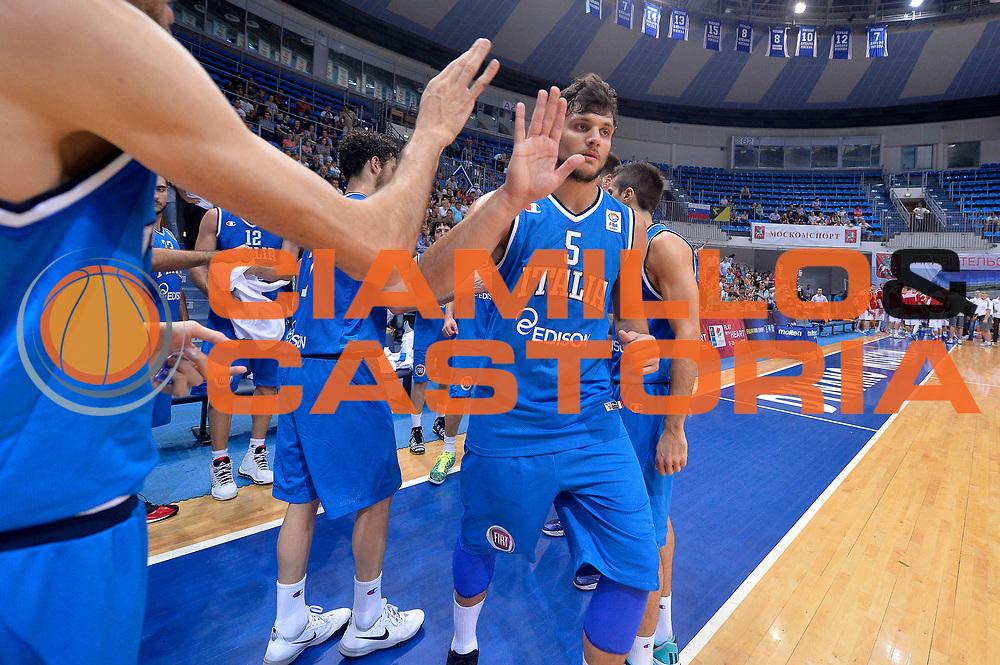 DESCRIZIONE : Mosca Moscow Qualificazione Eurobasket 2015 Qualifying Round Eurobasket 2015 Russia Italia Russia Italy<br /> GIOCATORE : Alessandro Gentile<br /> CATEGORIA : Pregame<br /> EVENTO : Mosca Moscow Qualificazione Eurobasket 2015 Qualifying Round Eurobasket 2015 Russia Italia Russia Italy<br /> GARA : Russia Italia Russia Italy<br /> DATA : 13/08/2014<br /> SPORT : Pallacanestro<br /> AUTORE : Agenzia Ciamillo-Castoria/GiulioCiamillo<br /> Galleria: Fip Nazionali 2014<br /> Fotonotizia: Mosca Moscow Qualificazione Eurobasket 2015 Qualifying Round Eurobasket 2015 Russia Italia Russia Italy<br /> Predefinita :