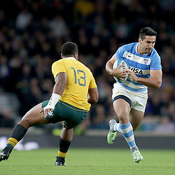 Jeronimo de la Fuente of Argentina goes past Samu Kerevi of Australia during the The Rugby Championship match between Argentina and Australia at Twickenham Stadium, Twickenham - 08/10/2016<br /> ©Matthew Impey / Wired Photos<br /> Picture by Matt Impey +44 7789 130347
