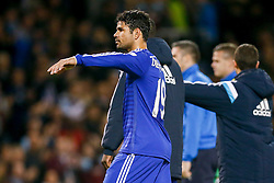 Diego Costa of Chelsea waves to the away fans after Chelsea win 1-3 - Photo mandatory by-line: Rogan Thomson/JMP - 07966 386802 - 18/08/2014 - SPORT - FOOTBALL - Burnley, England - Turf Moor Stadium - Burnley v Chelsea - Barclays Premier League.