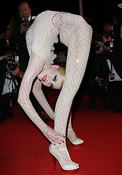Contortionist Zlata  at the premiere of her new film Holy Motors at the Cannes Film Festival, Wednesday, 23rd May 2012.  May 2012. Photo by: Stephen Lock / i-Images