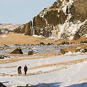 Skarphéðinn Halldórsson and Ágúst Þór Gunnlaugsson at Eyjafjöll.