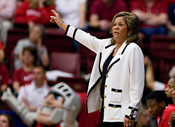March 20, 2010; Stanford, CA, USA; Rutgers Scarlet Knights head coach C. Vivian Stringer during the first half against the Iowa Hawkeyes  in the first round of the 2010 NCAA womens basketball tournament at Maples Pavilion. Iowa defeated Rutgers 70-63.