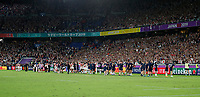 Rugby Union - 2019 Rugby World Cup - Pool A: Japan vs. Scotland<br /> <br /> Players from Japan and Scotland bow to the fans at full time at International Stadium Yokohama, Kanagawa Prefecture, Yokohama City.<br /> <br /> COLORSPORT/LYNNE CAMERON