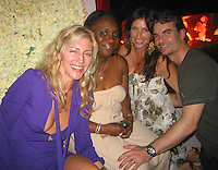 **EXCLUSIVE**.NASCAR Driver Jeff Gordon with pregnant  wife Ingrid Vandebosch & Jessica Roenblum (left).Jessica Rosenblum Events Presents Jeff Gordon's Party.Suite Night Club.Miami Beach, FL, USA.Friday, February 02, 2007.Photo By Celebrityvibe.com.To license this image please call (212) 410 5354 ; or.Email: celebrityvibe@gmail.com ;.Website: www.celebrityvibe.com