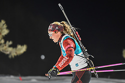 February 12, 2018 - Pyeongchang, Gangwon, South Korea - Irene Cadurisch of Switzerland  competing at Women's 10km Pursuit, Biathlon, at olympics at Alpensia biathlon stadium, Pyeongchang, South Korea. on February 12, 2018. (Credit Image: © Ulrik Pedersen/NurPhoto via ZUMA Press)