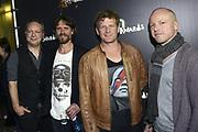 De 3FM Awards 2014 in de Gashouder, Amsterdam.<br /> <br /> Op de foto:  Racoon - Bart van der Weide , Stefan de Kroon , Dennis Huige en Paul Bukkens