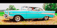 "57 chevy image for sale, The 1957 Chevrolet is a car which was introduced by the Chevrolet division of General Motors in September, 1956. It was available in three series models: the upscale Bel Air, the mid-range ""two-ten"", and the ""one-fifty"". A two-door station wagon, the Nomad was produced as a Bel Air model. An upscale trim option called the ""Delray"" was available for two-ten 2-door sedans. It is a popular and sought after classic car. These vehicles are often restored to their original condition and sometimes modified. The car's image has been frequently used in toys, graphics, music, movies and television. The '57 Chevy, as it is often known, is an auto icon."