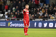 Adam Clayton (8) of Middlesbrough during the EFL Sky Bet Championship match between Swansea City and Middlesbrough at the Liberty Stadium, Swansea, Wales on 14 December 2019.
