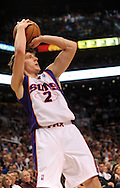 Mar. 19 2010; Phoenix, AZ, USA; Phoenix Suns guard Goran Dragic (2) puts up a shot during the first half at the US Airways Center.  The Suns defeated the Jazz 110-100. Mandatory Credit: Jennifer Stewart-US PRESSWIRE.
