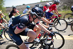 Julie Leth (DEN) of Wiggle High5 Cycling Team talks to her teammates during Stage 1 of the Amgen Tour of California - a 124 km road race, starting and finishing in Elk Grove on May 17, 2018, in California, United States. (Photo by Balint Hamvas/Velofocus.com)