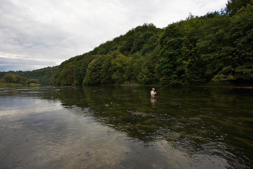 Flyfishing, San River. Myczkowce, Poland.