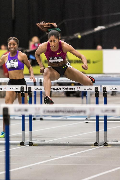 USATF Indoor Track & Field Championships: womens 60 hurdles, Kristi Castlin