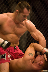 March 3, 2007 - Columbus, OH - Rich Franklin and Jason MacDonald face off during their UFC 68 middleweight bout at Nationwide Arena in Columbus, OH.  (RAW File on Request)