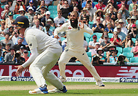Cricket - 2017 South Africa Tour of England - Third Test, Day Five<br /> <br /> Moeen Ali celebrates as he claims the wicket of  Morne Morkel which gave him a hat trick of wickets (the first since 1938 for a spin bowler) during the afternoon session, <br /> which also won the 100th test match at The Oval.<br /> <br /> COLORSPORT/ANDREW COWIE