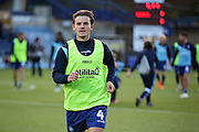 Wycombe Wanderers Dominic Gape(4) warming up before the EFL Sky Bet League 1 match between Wycombe Wanderers and Peterborough United at Adams Park, High Wycombe, England on 3 November 2018.