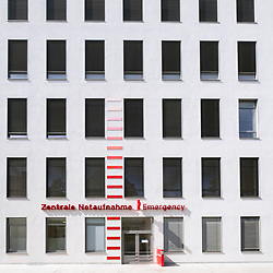 Exterior of Emergency Department at Charite Hospital in Mitte, Berlin, Germany