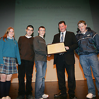 Members of  Green Volunteers, St Caimins team being presenteded with their Young Citizen Award by Cllr Pat Hayes, Cathoirleach of Clare County Development Board in Glor<br /> <br /> Pic.Brian Gavin/Press 22