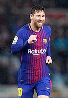 FC Barcelona's Leo Messi celebrates goal during La Liga match. January 14,2018. (ALTERPHOTOS/Acero)