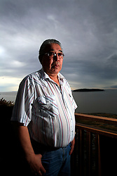 CANADA ALBERTA FORT CHIPEWYAN 12MAY07 - Portrait of Mikisew First Nation elder Pat Marcell overlooking Lake Athabasca at Fort Chipewyan...jre/Photo by Jiri Rezac / WWF-UK..© Jiri Rezac 2007..Contact: +44 (0) 7050 110 417.Mobile: +44 (0) 7801 337 683.Office: +44 (0) 20 8968 9635..Email: jiri@jirirezac.com.Web: www.jirirezac.com..© All images Jiri Rezac 2007 - All rights reserved.