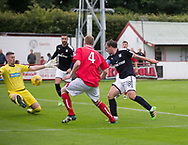 Dundee&rsquo;s Paul McGowan scores his side's second goal - Brechin City v Dundee pre-season friendly at Glebe Park, Brechin, Photo: David Young<br /> <br />  - &copy; David Young - www.davidyoungphoto.co.uk - email: davidyoungphoto@gmail.com