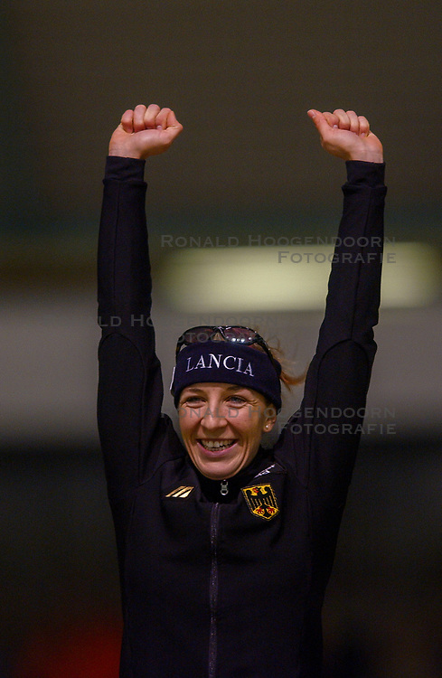 03-01-2003 NED: Europees Kampioenschappen Allround, Heerenveen<br /> Anni Friesinger GER